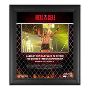 Bobby Lashley Hell In A Cell 2020 15x17 Commemorative Plaque