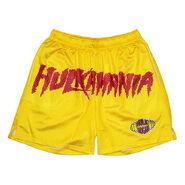 Hulk Hogan Hulkamania Yellow Chalk Line Shorts