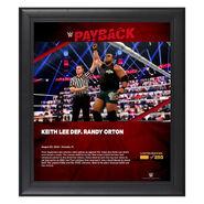 Keith Lee Payback 2020 15x17 Commemorative Plaque