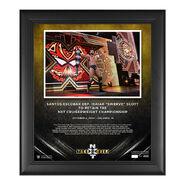Santos Escobar NXT Takeover 31 15 x 17 Commemorative Plaque