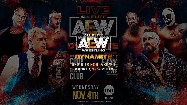 November 4, 2020 AEW Dynamite results