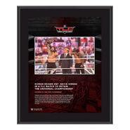 Roman Reigns TLC 2020 10x13 Commemorative Plaque