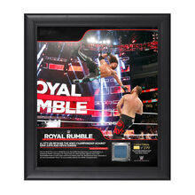 AJ Styles Royal Rumble 2018 15 x 17 Framed Plaque w Ring Canvas.jpg