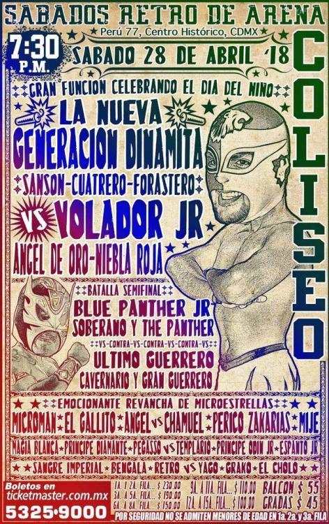 CMLL Sabados De Coliseo (April 28, 2018)