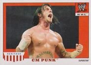 2008 WWE Heritage IV Trading Cards (Topps) CM Punk 10
