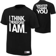 Damien Sandow I Think Therefore I Am Authentic T-Shirt