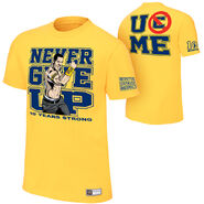 John Cena Gold 10 Years Strong Authentic T-Shirt