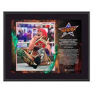 Asuka SummerSlam 2020 10x13 Commemorative Plaque