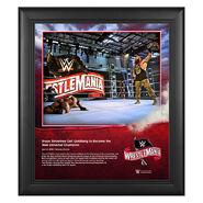 WrestleMania 36 Braun Strowman 15 x 17 Limited Edition Plaque