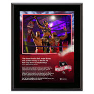 WrestleMania 36 Street Profits 10 x 13 Limited Edition Plaque