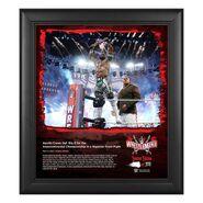 Apollo Crews WrestleMania 37 15x17 Commemorative Plaque
