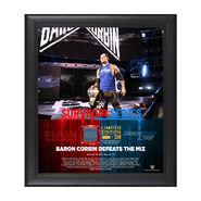 Baron Corbin Survivor Series 2017 15 x 17 Framed Plaque w Ring Canvas