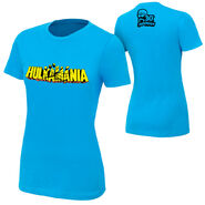 Hulk Hogan Hulkamania Blue T-Shirt women