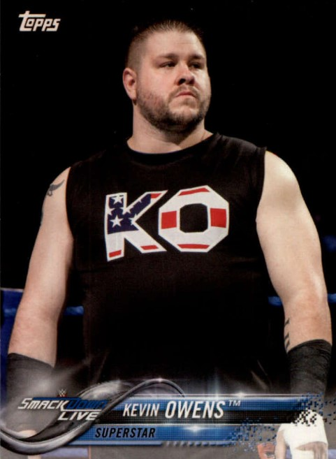 2018 WWE Wrestling Cards (Topps) Kevin Owens (No.47)