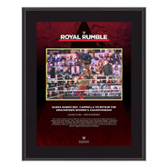 Sasha Banks Royal Rumble 2021 10 x 13 Commemorative Plaque
