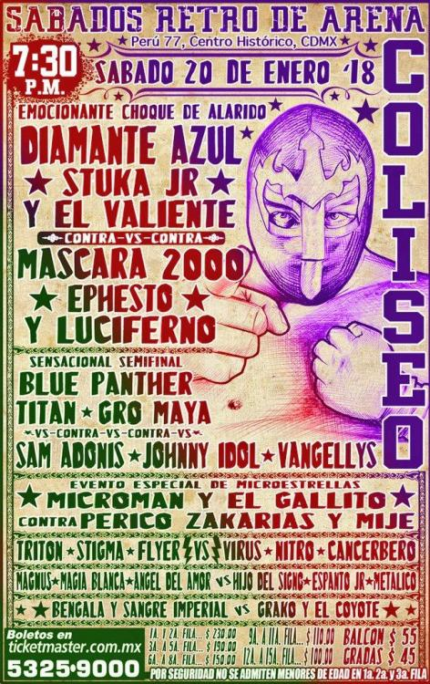 CMLL Sabados De Coliseo (January 20, 2018)