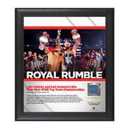 Luke Gallows and Karl Anderson Royal Rumble 2017 15 x 17 Framed Plaque w Ring Canvas
