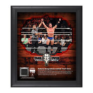 Roderick Strong NXT TakeOver San Antonio 15 x 17 Framed Plaque w Ring Canvas
