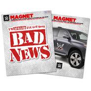 Bad News Barrett Car Magnet