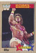 2017 WWE Heritage Wrestling Cards (Topps) Ultimate Warrior 99