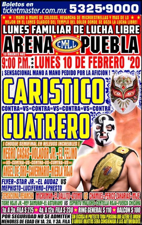 CMLL Lunes Arena Puebla (February 10, 2020)