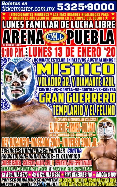 CMLL Lunes Arena Puebla (January 13, 2020)