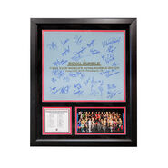 First Ever Women's Royal Rumble 2018 Framed Plaque w Ring Canvas (Autographed)