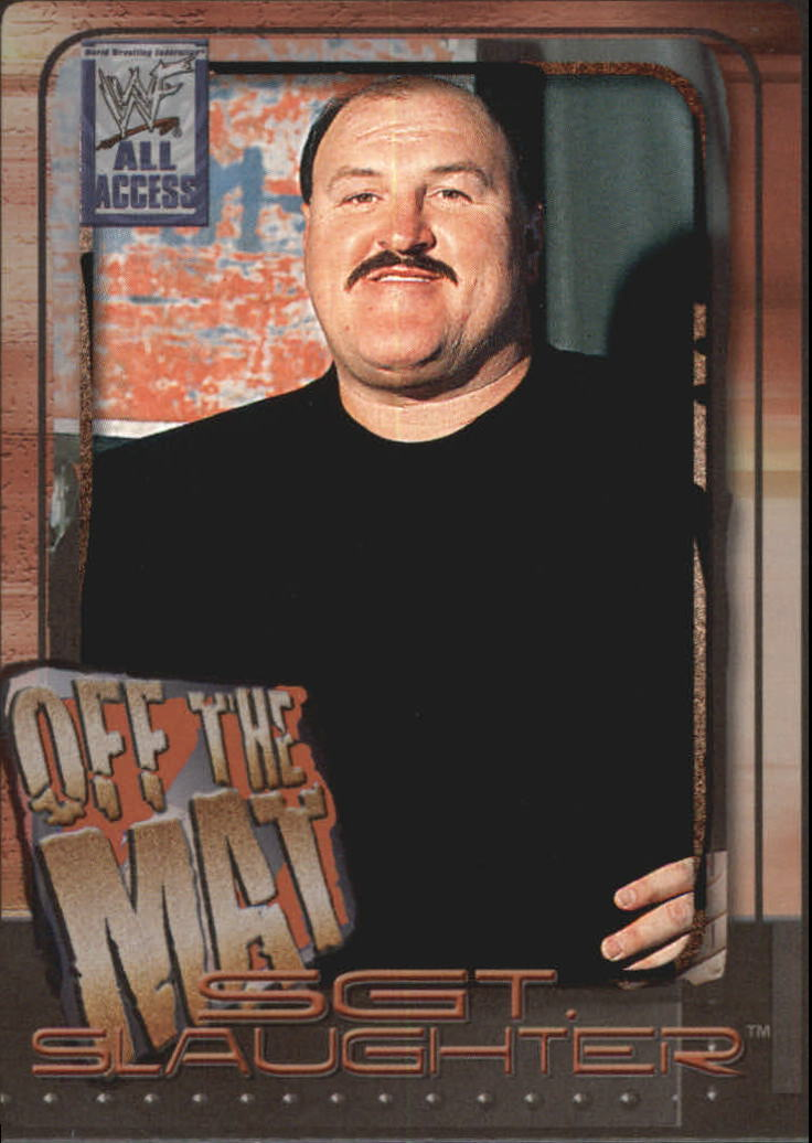 2002 WWF All Access (Fleer) Sgt. Slaughter (No.74)
