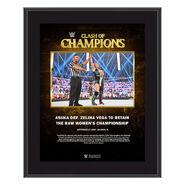 Asuka Clash of Champions 2020 10 x 13 Commemorative Plaque