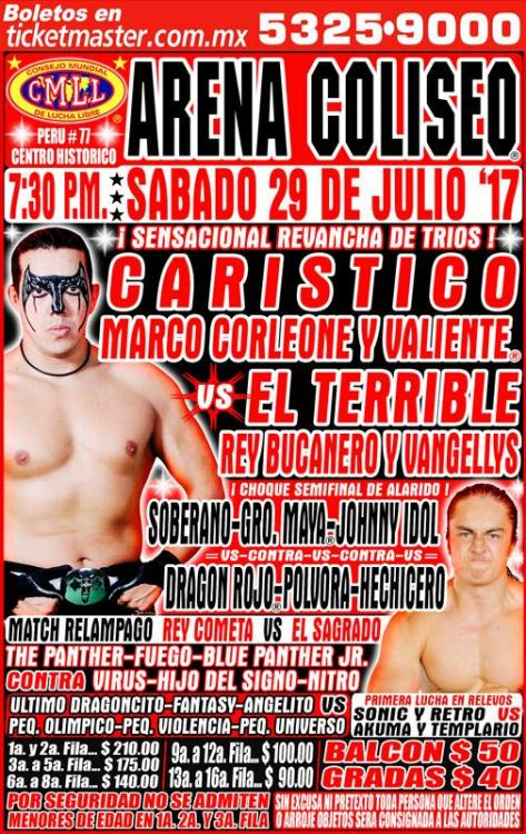 CMLL Sabados De Coliseo (July 29, 2017)