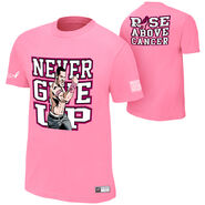 John Cena Rise Above Cancer Pink Authentic T-Shirt