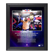 NXT Great American Bash Keith Lee 15x17 Commemorative Limited Edition Plaque