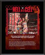 The Kabuki Warriors Hell in a Cell 2019 10 x 13 Commemorative Plaque