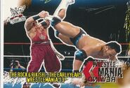2001 WWF WrestleMania (Fleer) The Rock & Rikishi - The Early Years 94