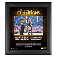 Asuka Clash of Champions 2020 15 x 17 Commemorative Plaque
