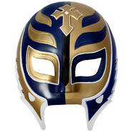 Rey Mysterio White, Gold, & Blue Plastic Mask