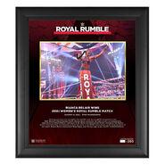 Bianca Belair Royal Rumble 2021 15 x 17 Commemorative Plaque