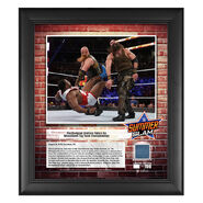 Bludgeon Brothers SummerSlam 2018 15 x 17 Framed Plaque w Ring Canvas