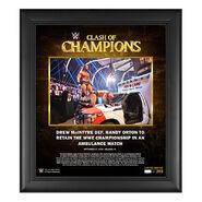 Drew McIntyre Clash of Champions 2020 15 x 17 Commemorative Plaque