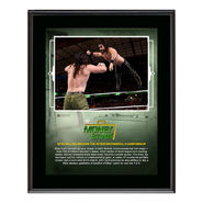 Seth Rollins Money in The Bank 2018 10 x 13 Plaque