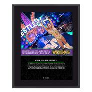 Charlotte WrestleMania 34 10 x 13 Photo Plaque