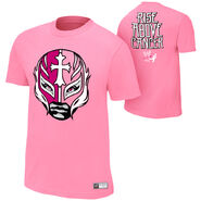 Rey Mysterio Rise Above Cancer Pink T-Shirt