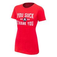 Kurt Angle Thank You Women's Authentic T-Shirt