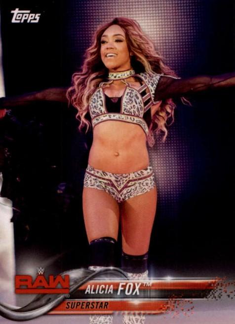 2018 WWE Wrestling Cards (Topps) Alicia Fox (No.6)