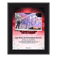 Edge Elimination Chamber 2021 10x13 Commemorative Plaque