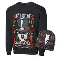Finn Balor Ugly Holiday Sweatshirt & Beanie Package