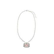 The Bellas Logo Silver Necklace