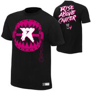 Ryback Rise Above Cancer Black Authentic T-Shirt