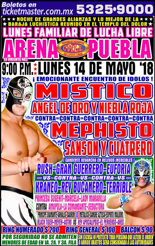 CMLL Lunes Arena Puebla (May 14, 2018)