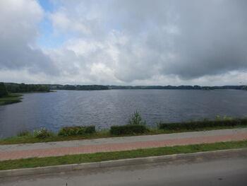 Krajobraz Litwy. Jezioro położone na północnym wschodzie kraju.